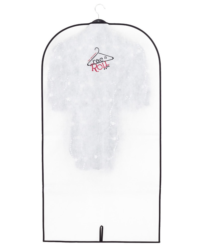 Rac n Roll Full Length Clear Vinyl/Woven Garment Bag With Pockets