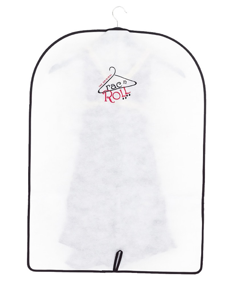 Rac n Roll Half Length Clear Vinyl/Woven Garment Bag With Pockets
