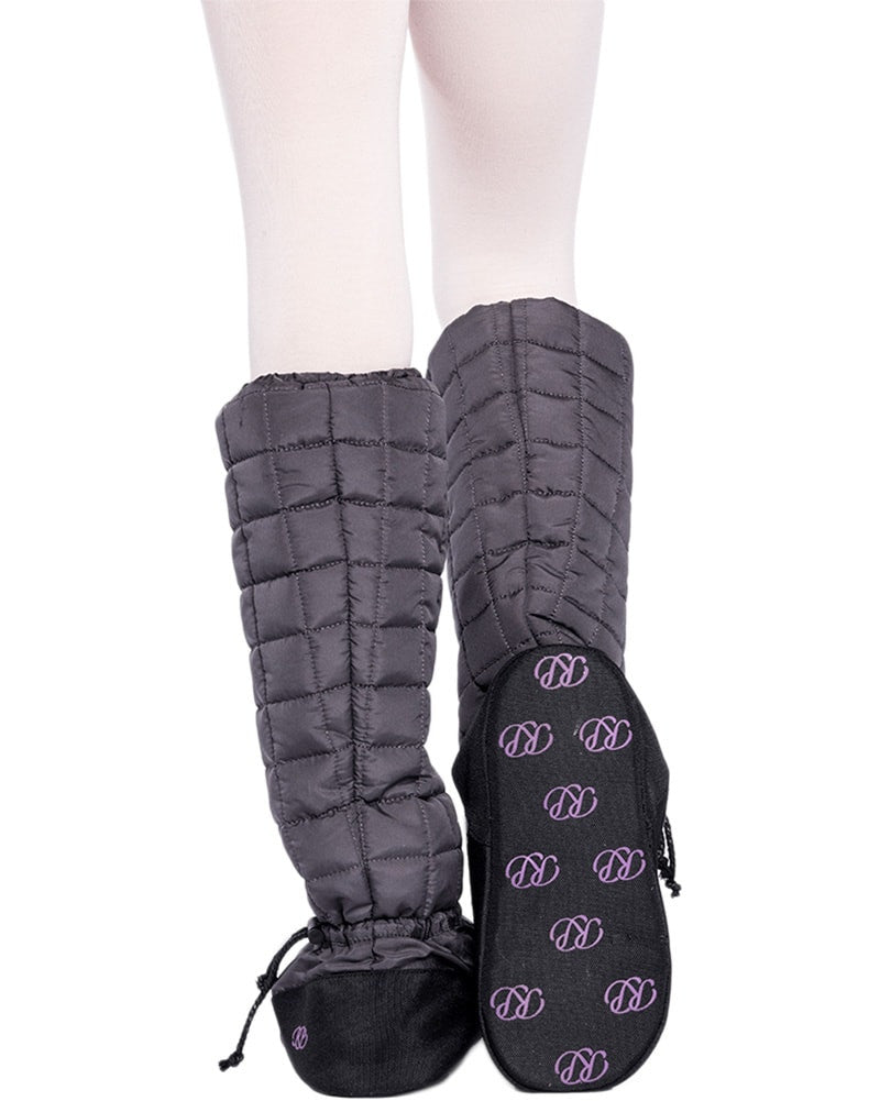 Russian Pointe - Quilted Knee High Warm Up Dance Booties Womens