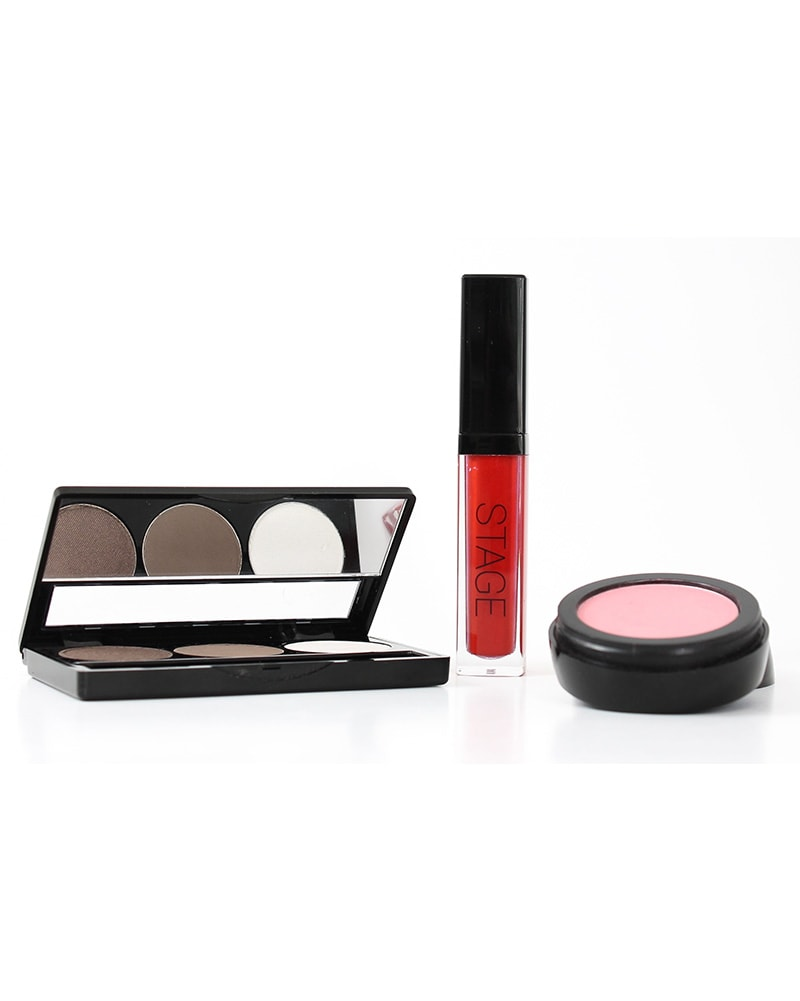 STAGE - Mini Makeup Kit Brown Smokey Eye & Red Lip - Accessories - Makeup - Dancewear Centre Canada