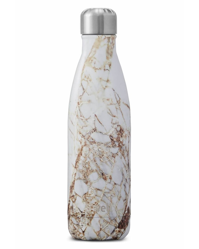 S'well Elements Collection Water Bottle 500 ml - Calacatta Gold Print - Accessories - Water Bottles - Dancewear Centre Canada
