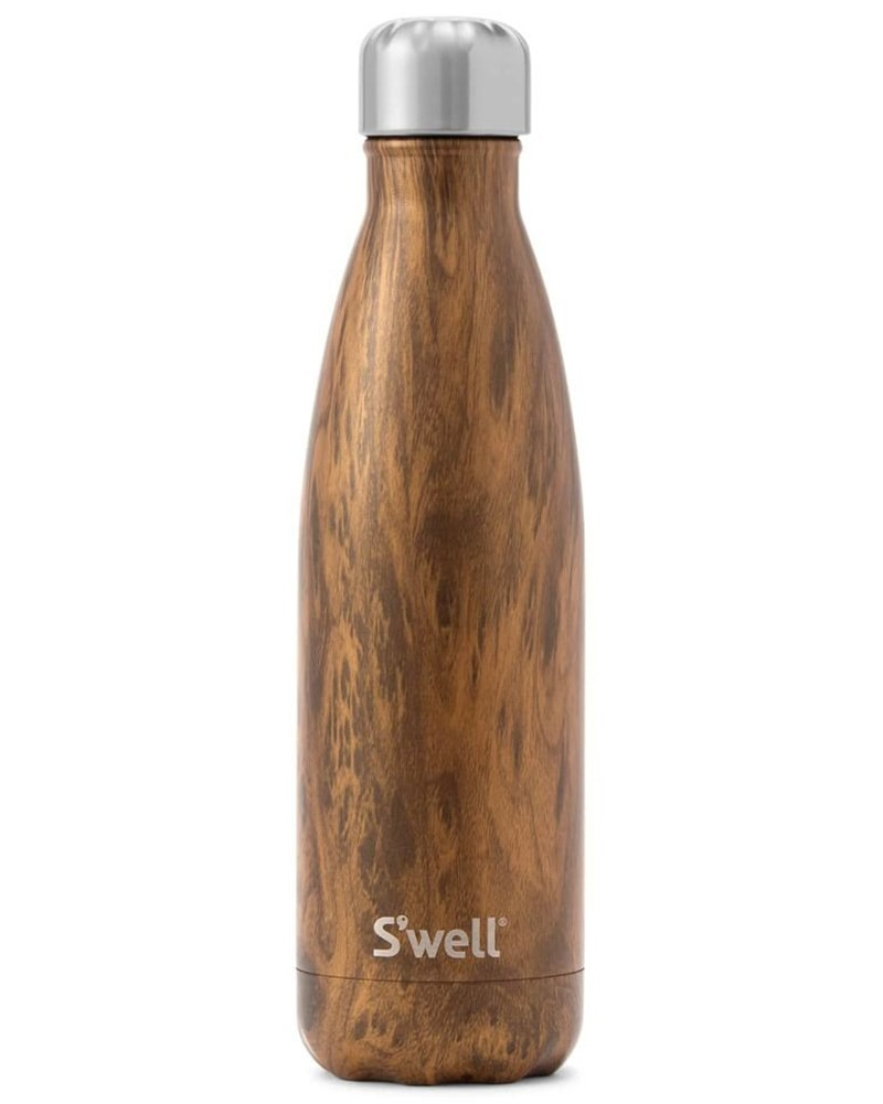 S'well Wood Collection Water Bottle 500 ml - Teakwood Print - Accessories - Water Bottles - Dancewear Centre Canada