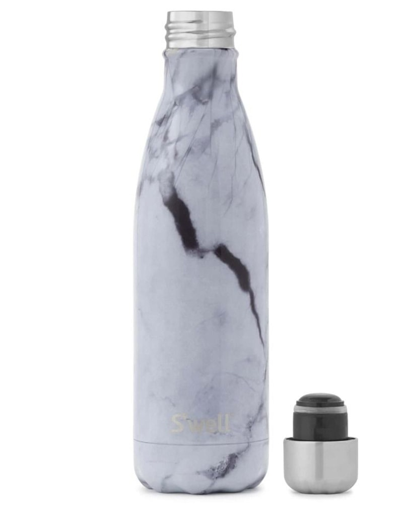 S'well Elements Collection Water Bottle 500 ml - White Marble Print