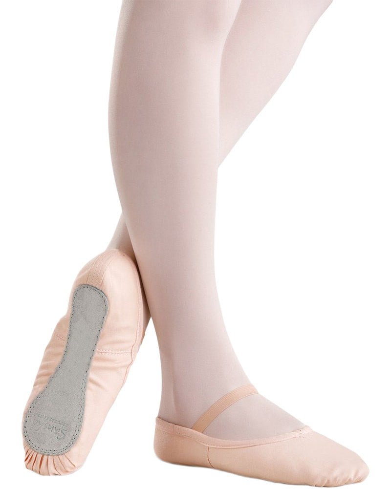 Sansha Star Canvas Full Sole Ballet Slippers - 14C Girls - Dance Shoes - Ballet Slippers - Dancewear Centre Canada