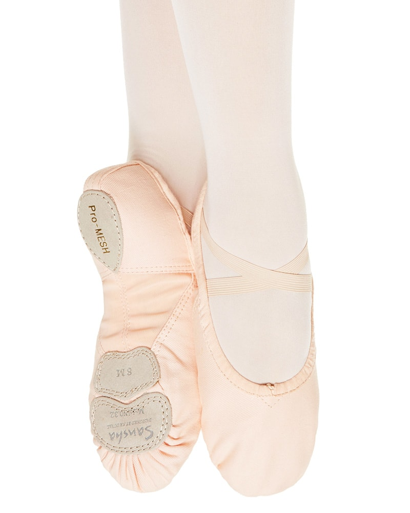 Sansha Pro Mesh Vegan Canvas Split Sole Ballet Slippers - 332V Womens - Dance Shoes - Ballet Slippers - Dancewear Centre Canada