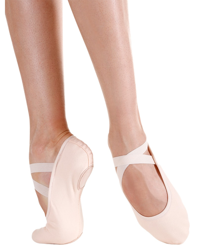 So Danca SD120 - Brio Professional Single Seam Stretch Canvas Split Sole Ballet Slippers Womens