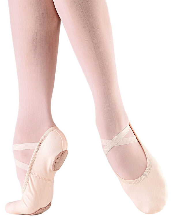 So Danca SD16S - Bliss Stretch Canvas Split Sole Ballet Slippers Girls - Dance Shoes - Ballet Slippers - Dancewear Centre Canada