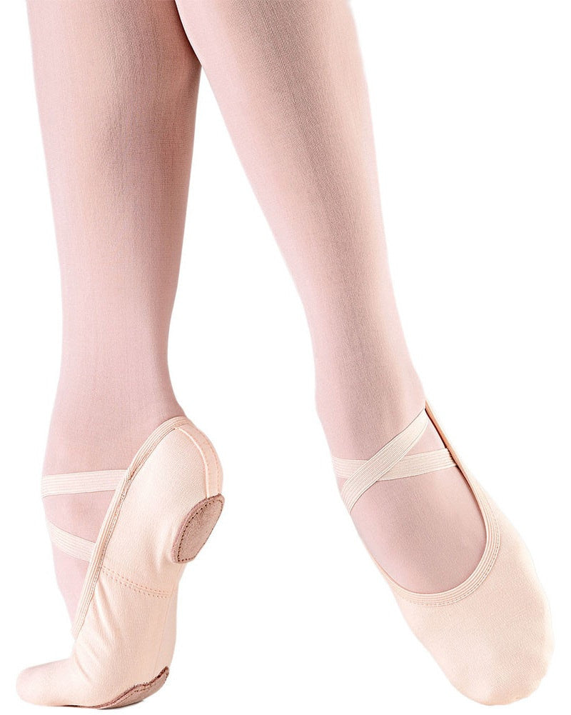 So Danca SD16S - Bliss Stretch Canvas Split Sole Ballet Slippers Girls