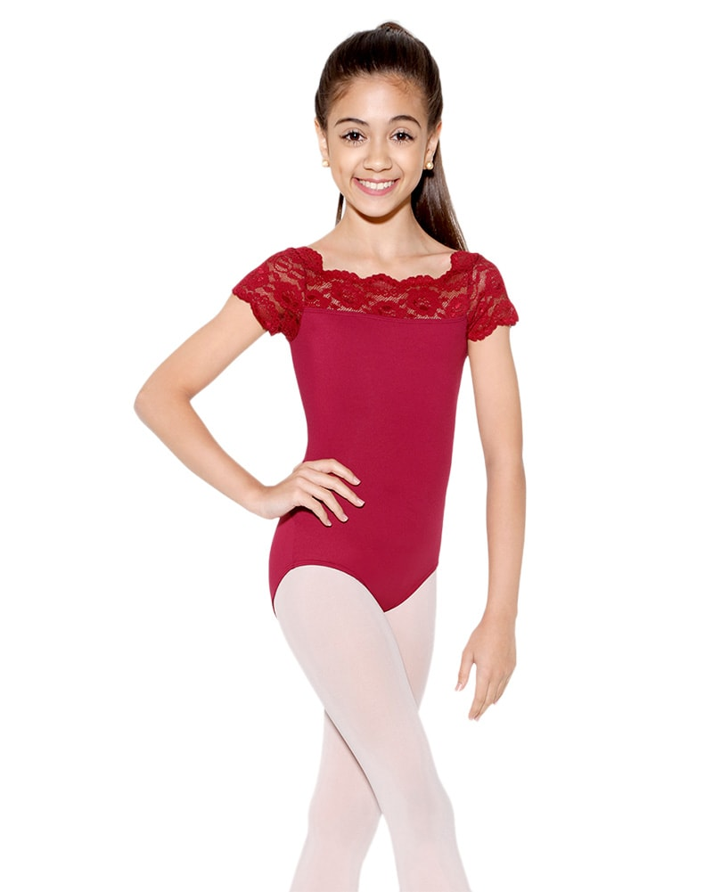 So Danca Tilly Stretch Lace Cap Sleeve Leotard - SL17 Girls