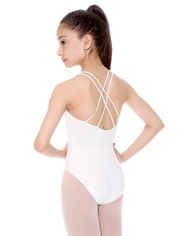 So Danca SL19 - Lynn Double Strap Cross Back Camisole Leotard Girls - Dancewear - Bodysuits & Leotards - Dancewear Centre Canada