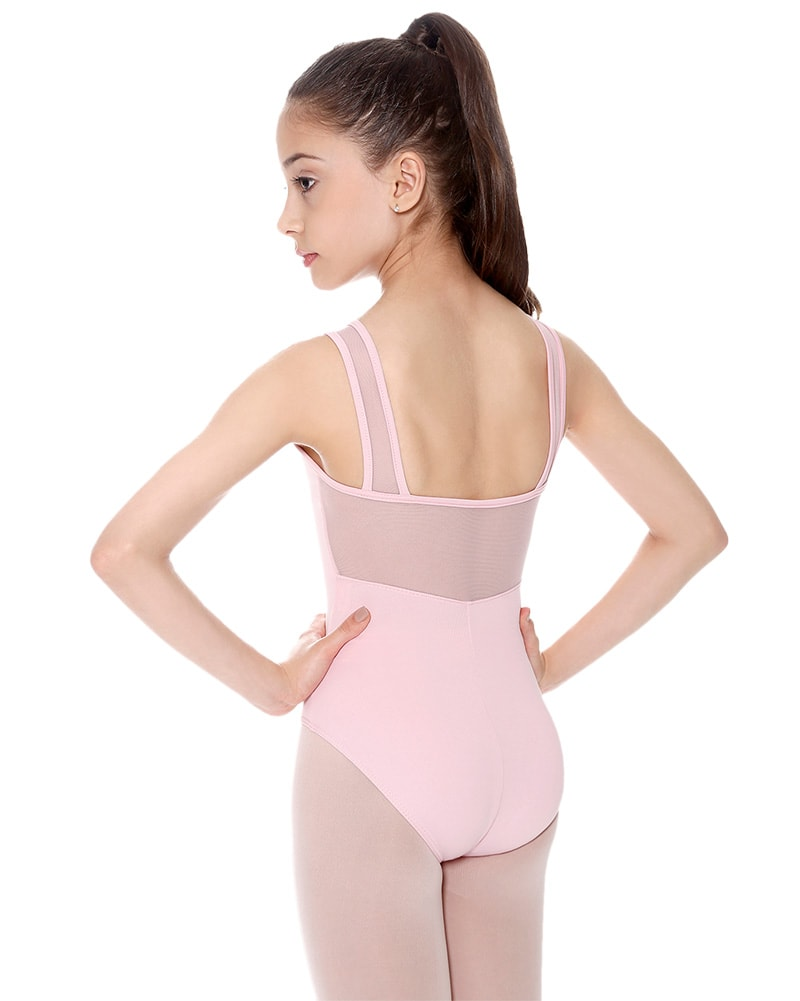 So Danca SL21 - Marley Mesh Insert Tank Leotard Girls - Dancewear - Bodysuits & Leotards - Dancewear Centre Canada