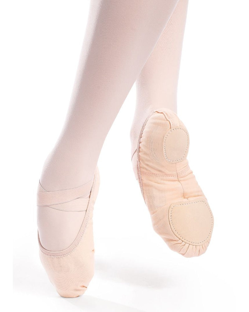 So Danca Verdi Vegan Sole Stretch Canvas Split Sole Ballet Slippers - SD16VG Womens - Dance Shoes - Ballet Slippers - Dancewear Centre Canada