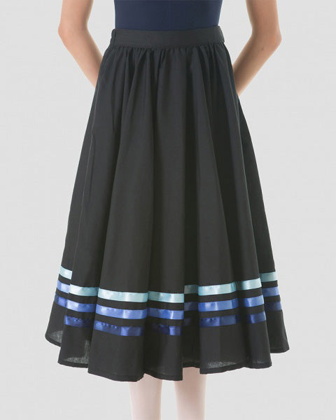Sonata Royal Academy of Dance Character Skirt With Blue Ribbons - Womens - Dancewear - Skirts - Dancewear Centre Canada