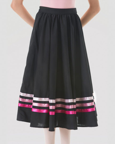 Sonata Royal Academy of Dance Character Skirt With Pink Ribbons - Womens - Dancewear - Skirts - Dancewear Centre Canada