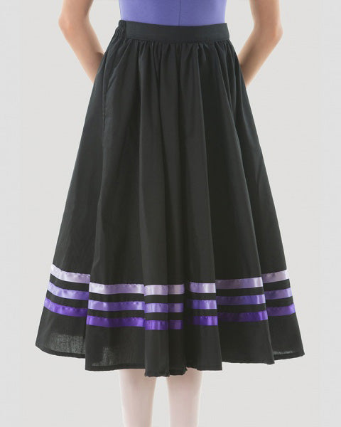 Sonata Royal Academy of Dance Character Skirt With Purple Ribbons - Girls - Dancewear - Skirts - Dancewear Centre Canada