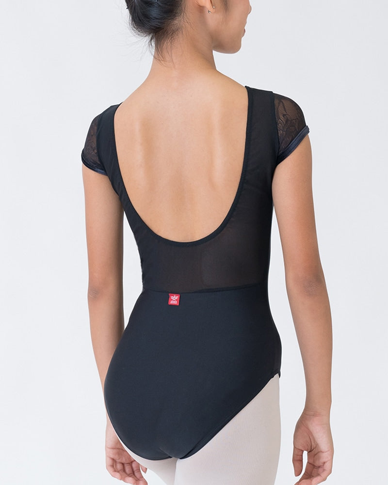 Sonata Ebony Cap-Sleeved U-Back Leotard - PL1802 Womens - Dancewear - Bodysuits & Leotards - Dancewear Centre Canada