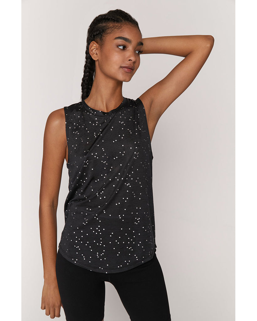 Spiritual Gangster Active Muscle Tank - Womens - Night Sky Active Print - Activewear - Tops - Dancewear Centre Canada