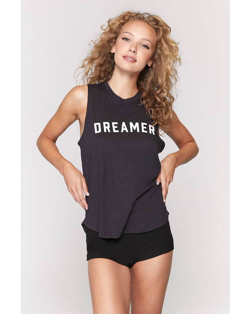 Spiritual Gangster Dreamer Muscle Tank - Womens - Vintage Black - Activewear - Tops - Dancewear Centre Canada