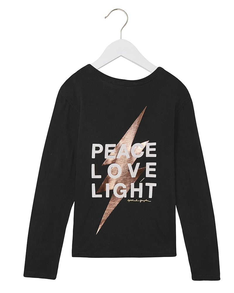 Spiritual Gangster Peace Long Sleeve Pocket Tee - Girls - Vintage Black - Activewear - Tops - Dancewear Centre Canada