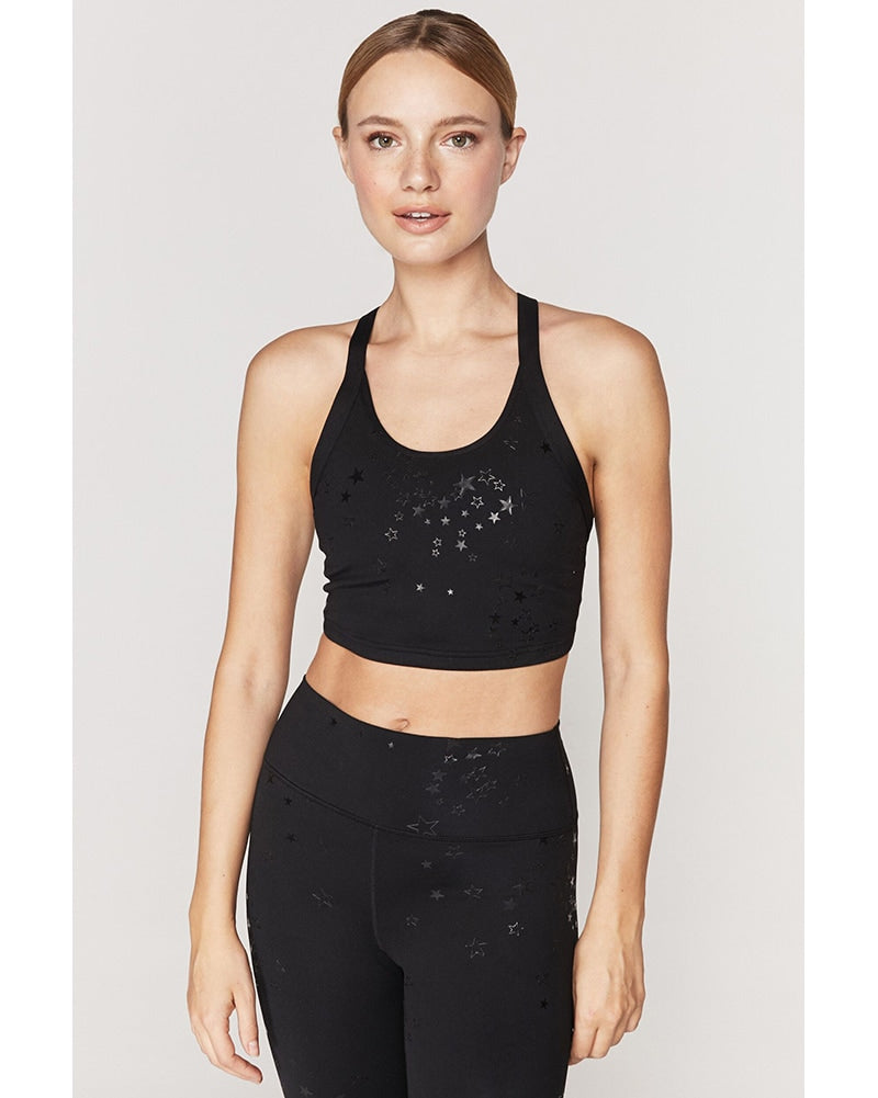 Spiritual Gangster Stars Wrapped in Love Brami - Womens - Star Clusters Print - Activewear - Tops - Dancewear Centre Canada