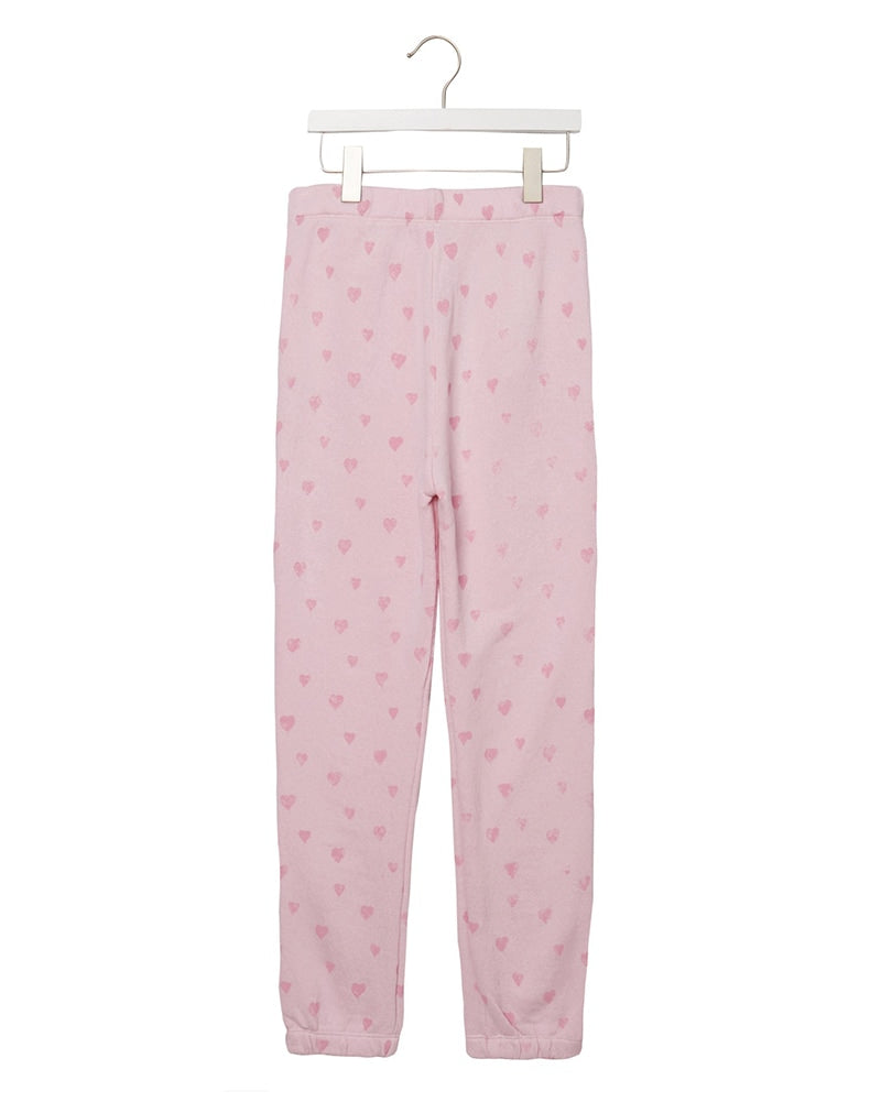 Spiritual Gangster - Hearts Fave Sweatpant Pink Iris Girls - Activewear - Bottoms - Dancewear Centre Canada