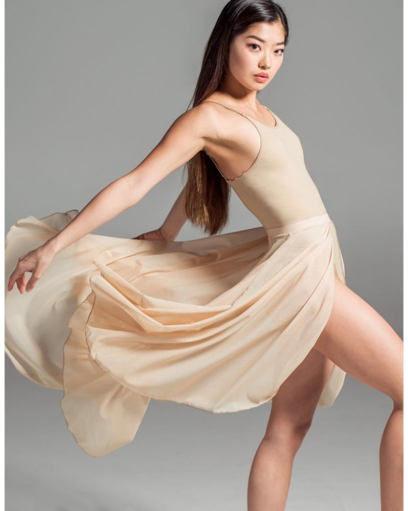 Suffolk Long Contemporary Open Front Pull-On Ballet Skirt - 1010A Womens - Dancewear - Skirts - Dancewear Centre Canada