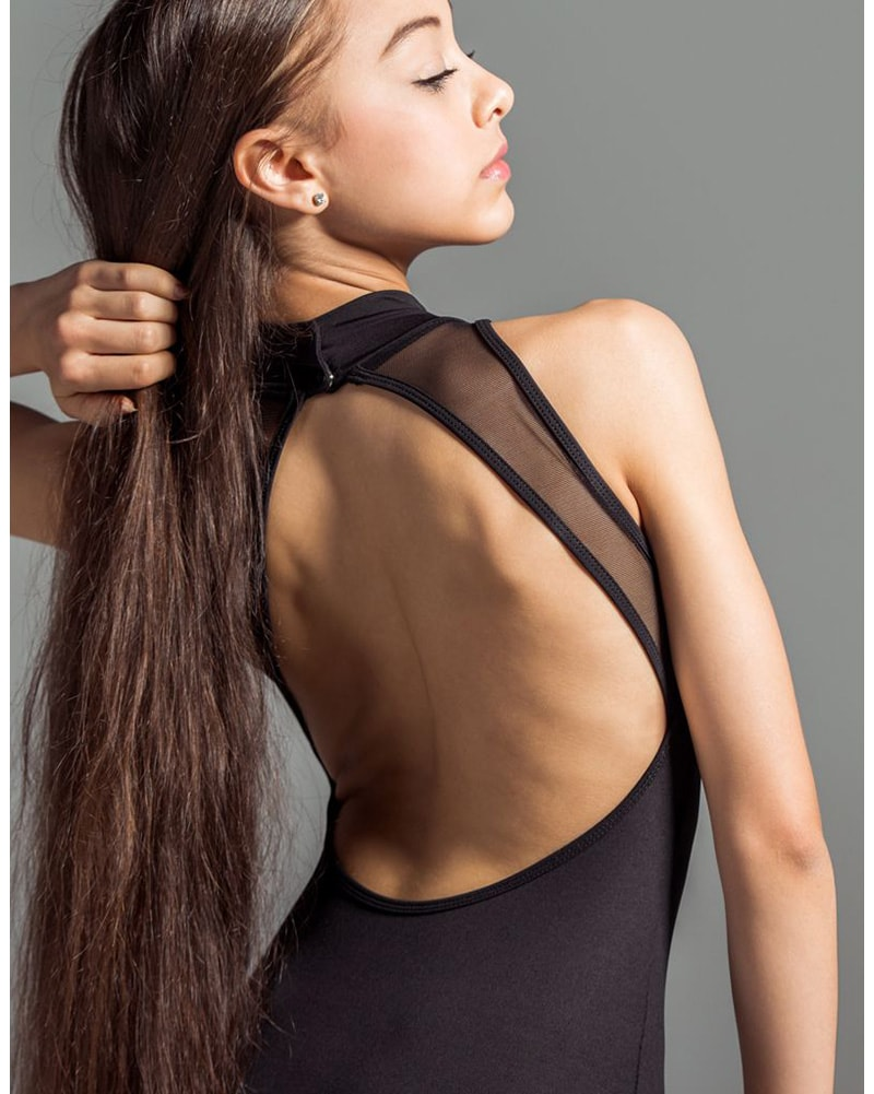 Suffolk Mock Turtleneck Mesh Sleeveless Leotard - 2005A Womens - Dancewear - Bodysuits & Leotards - Dancewear Centre Canada