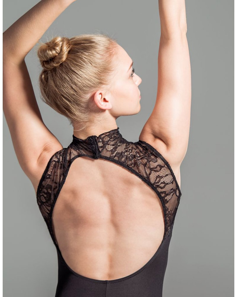 Suffolk Eva Marie Saint High Neck Lace Overlay Sleeveless Leotard - 2017A Womens - Dancewear - Bodysuits & Leotards - Dancewear Centre Canada