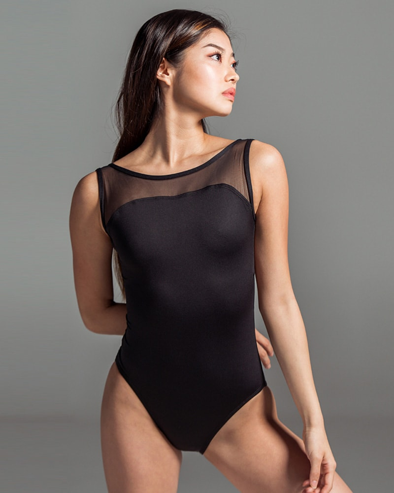 Suffolk Illusion Mesh Sleeveless Leotard - 2137A Womens