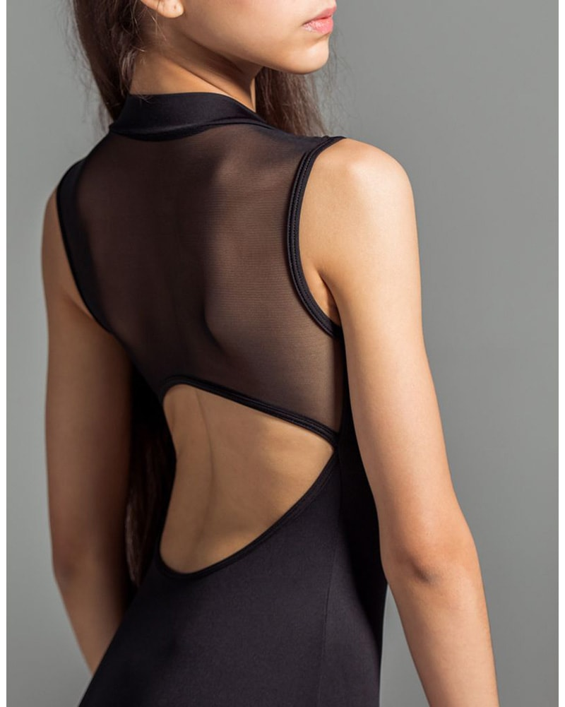 Suffolk Zip Front Mesh Back Sleeveless Leotard - 2138A Womens - Dancewear - Bodysuits & Leotards - Dancewear Centre Canada