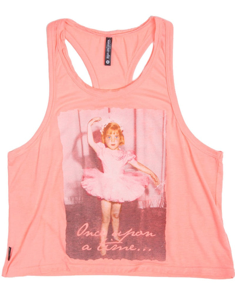 Sugar and Bruno Once Upon a Time Oversized T-Back Tank Top - D7246 Girls - Coral - Dancewear - Tops - Dancewear Centre Canada