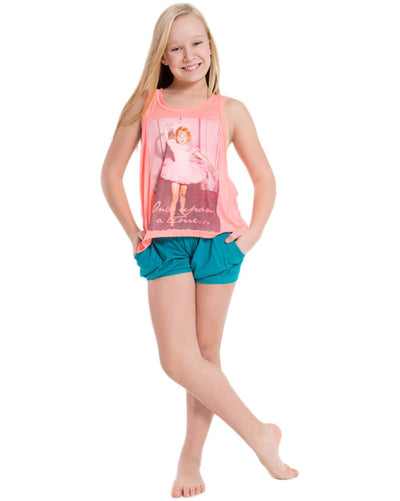 Sugar and Bruno D7246 - Once Upon a Time Oversized T-Back Tank Top Girls - Dancewear - Tops - Dancewear Centre Canada