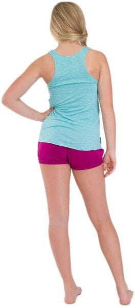 Sugar and Bruno J'adore Racerback Tank Top - D7482 Womens - Heather Aqua