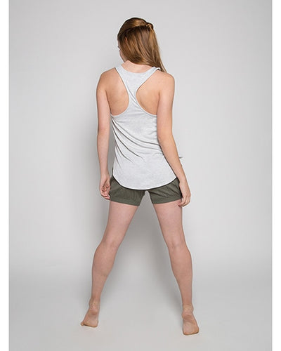 Sugar and Bruno Dancer Petal Racerback Tank Top - D7965 Girls - Light Heather Grey - Dancewear - Tops - Dancewear Centre Canada
