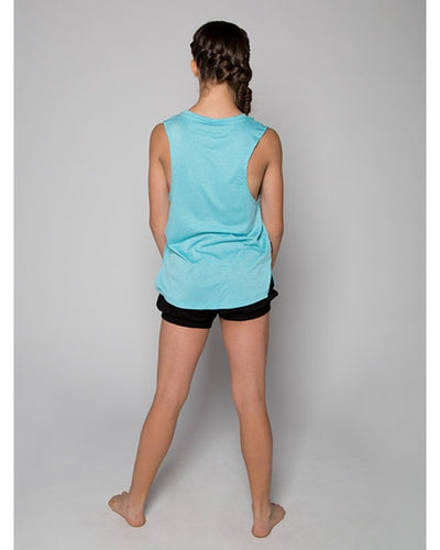 Sugar and Bruno NYC Dancer Metro Tank Top - D8477 Womens - Aqua - Dancewear - Tops - Dancewear Centre Canada
