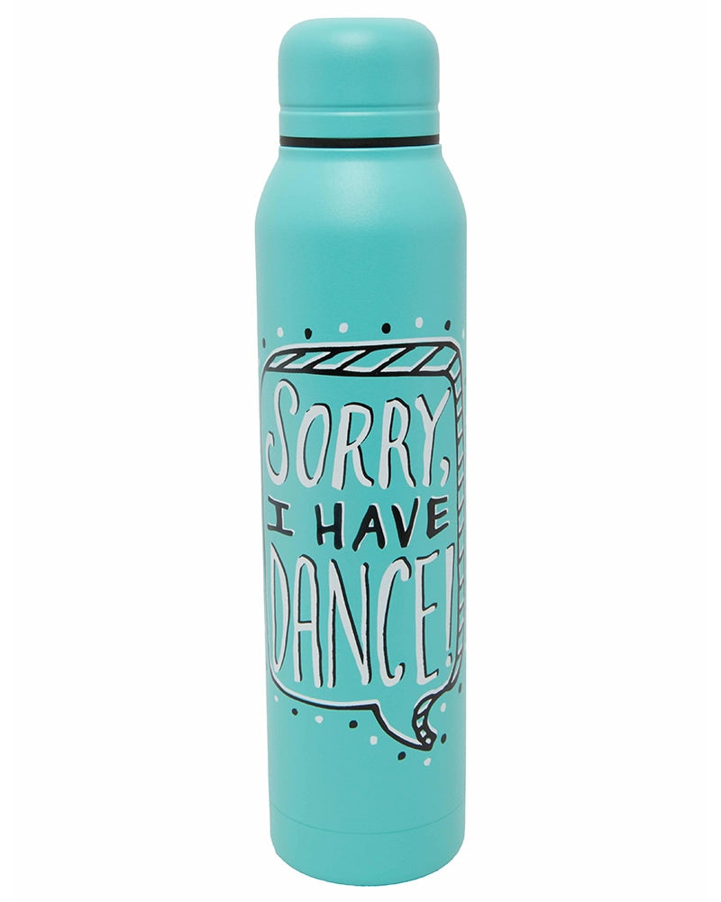 Sugar and Bruno Sorry I Have Dance Water Bottle - D9347 - Mint - Accessories - Water Bottles - Dancewear Centre Canada