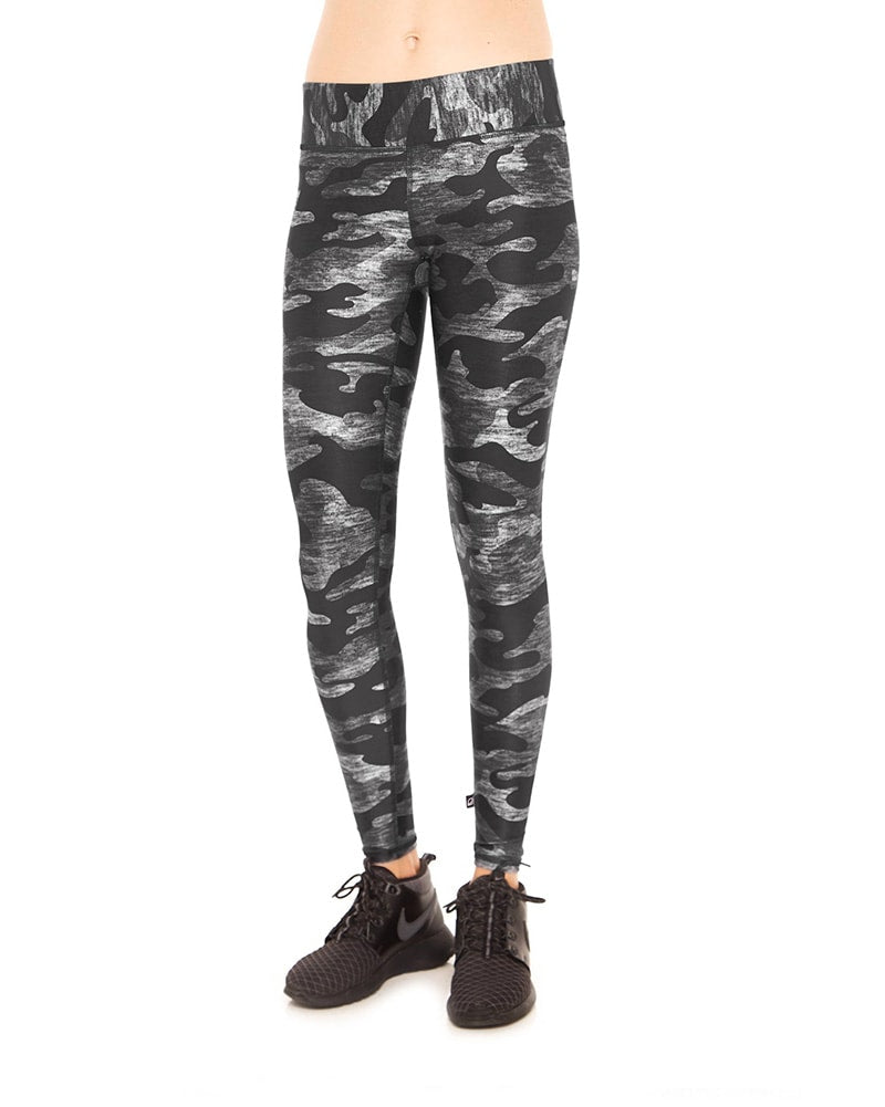 Terez Tall Band Legging - Womens - Heathered Grey Camo Print - Activewear - Bottoms - Dancewear Centre Canada