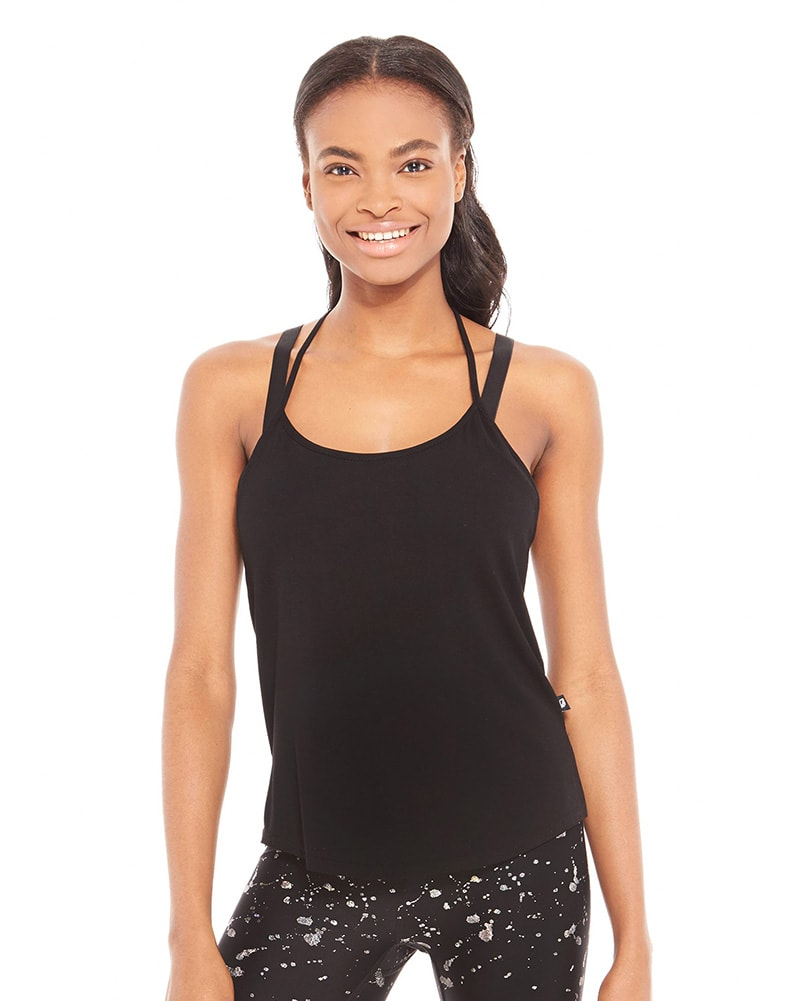 Terez T-Back Tank - 2294 Womens - Heather Charcoal - Activewear - Tops - Dancewear Centre Canada