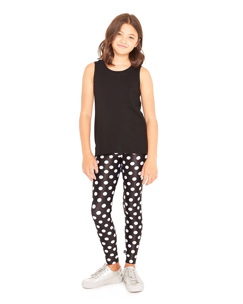 Terez Legging - 4-01 Girls - Let's Polka Print - Activewear - Bottoms - Dancewear Centre Canada