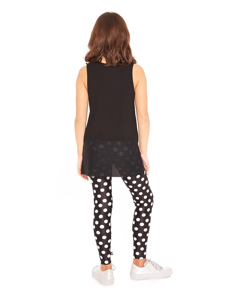 Terez 4-01 - Let's Polka Print Legging Girls - Activewear - Bottoms - Dancewear Centre Canada