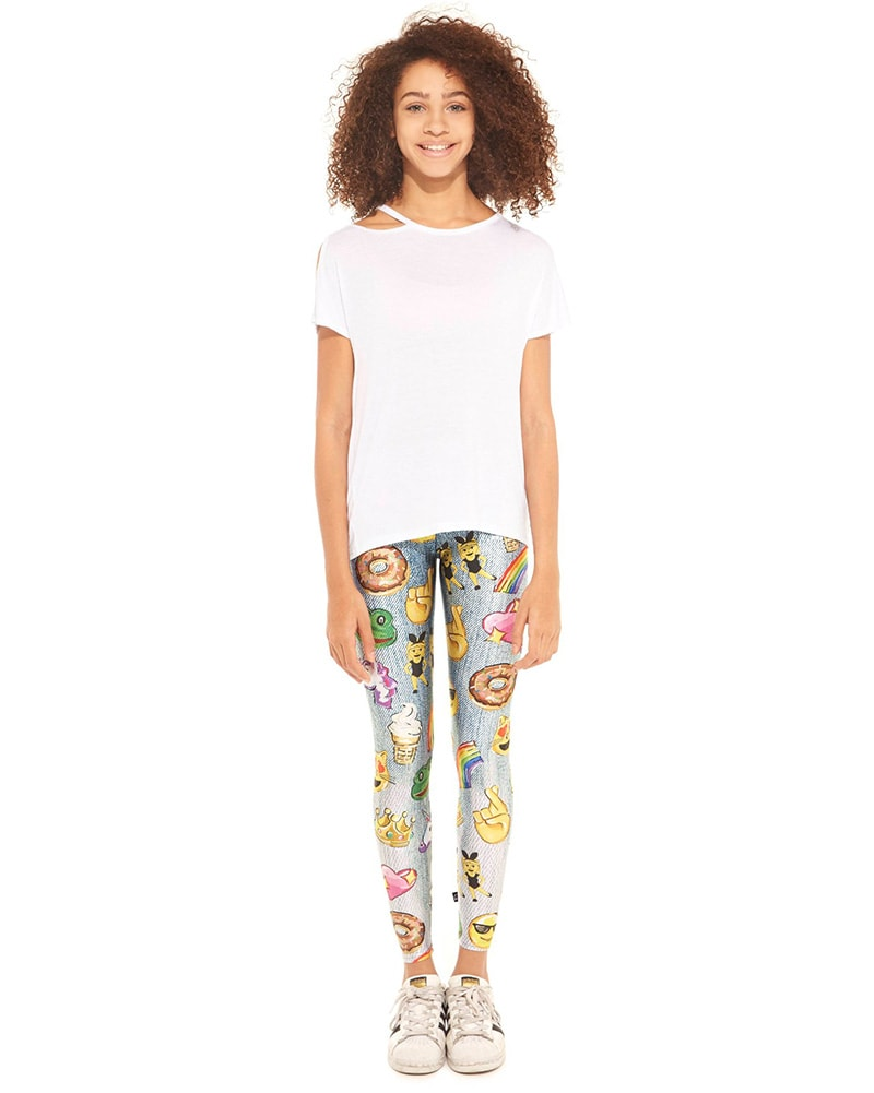 Terez Legging - 401 Girls - Emojis by Hand Print