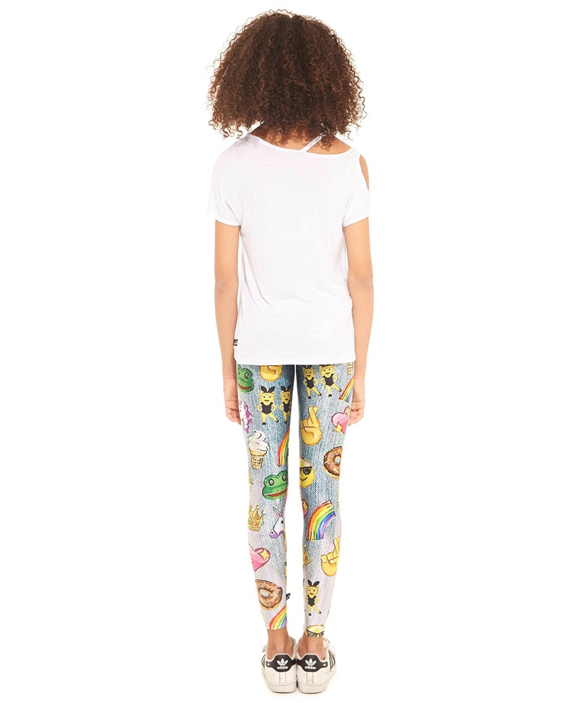 Terez 401 - Emojis by Hand Print Legging Girls - Activewear - Bottoms - Dancewear Centre Canada