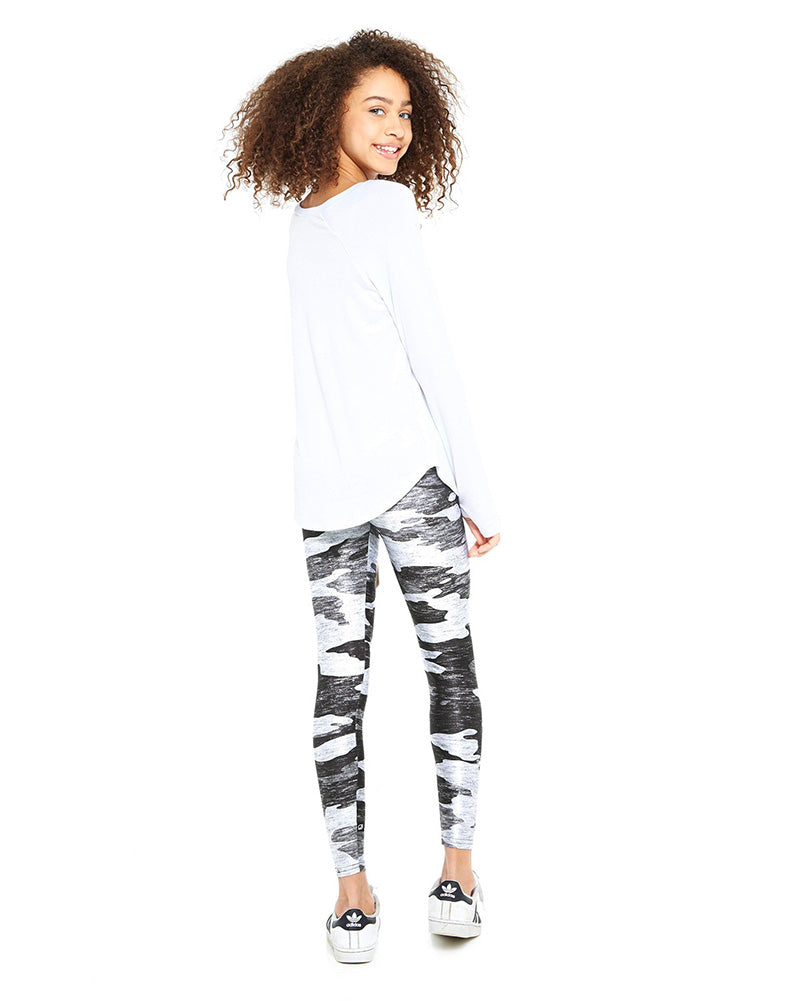 Terez 401 - Heathered Grey Camo Print Legging Girls - Activewear - Bottoms - Dancewear Centre Canada