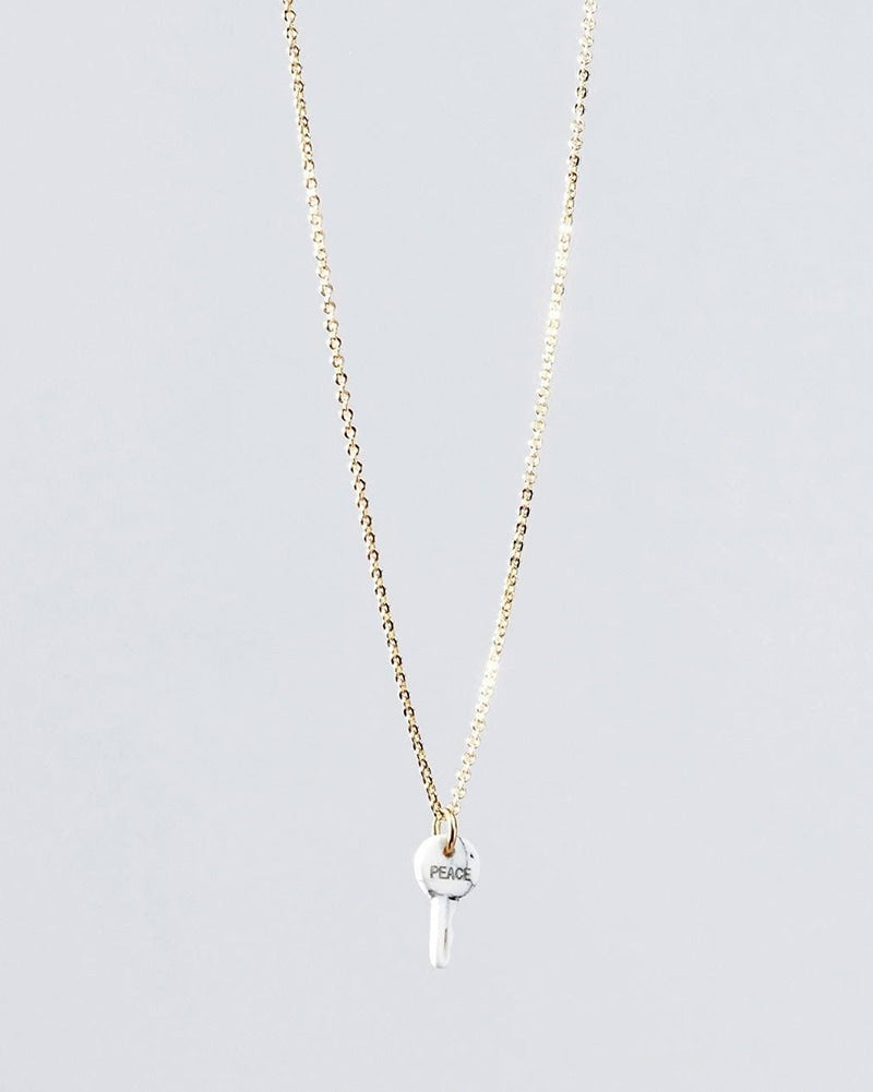 The Giving Keys Peace Petite Stone Key Necklace - Howlite - Accessories - Dance Gifts - Dancewear Centre Canada
