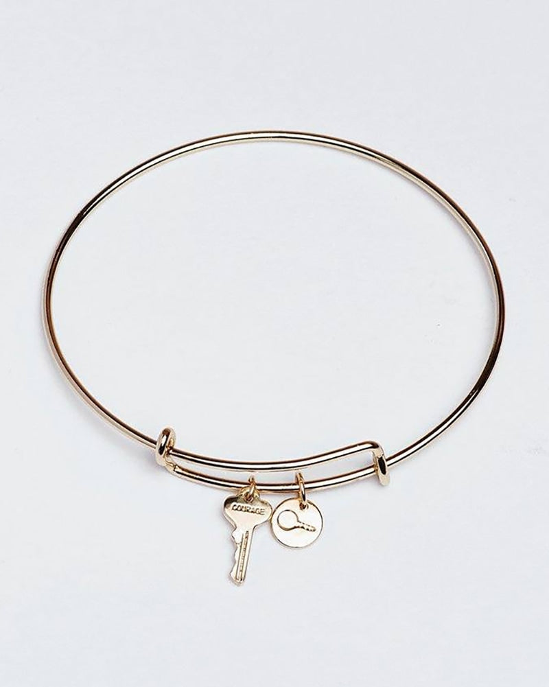 The Giving Keys Courage Petite Key Bangle Bracelet - Gold - Accessories - Dance Gifts - Dancewear Centre Canada