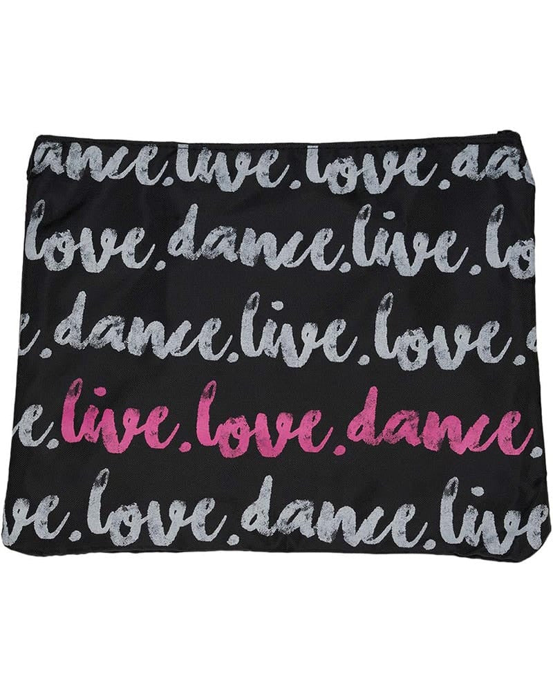 Tiaras + Tendus Live Love Dance Accessory Make Up Bag - Hot Pink