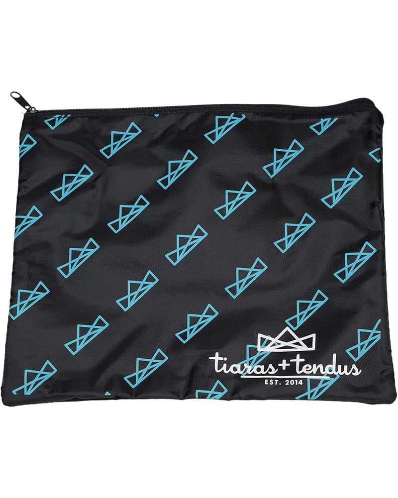 Tiaras + Tendus Live Love Dance Accessory Make Up Bag - Turquoise - Accessories - Dance Bags - Dancewear Centre Canada