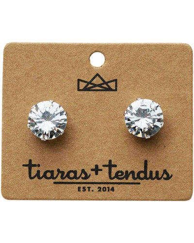 Tiaras + Tendus - 12mm Dance Competition Stud Rhinestone Earrings - Accessories - Jewelry - Dancewear Centre Canada