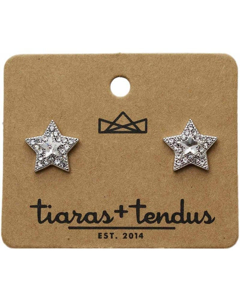Tiaras + Tendus - 14mm Dance Competition Star Stud Rhinestone Earrings