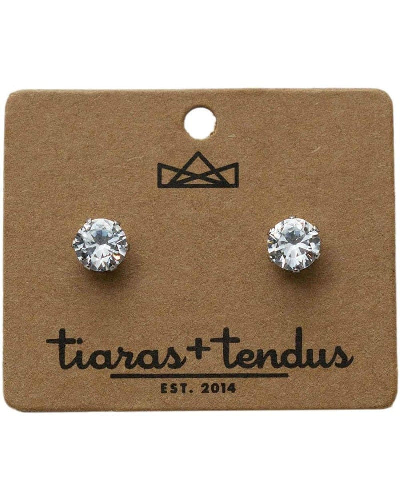 Tiaras + Tendus 8mm Dance Competition Clip-On Rhinestone Earrings